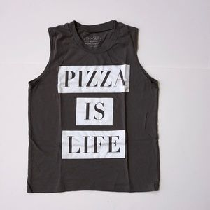 """Fifth Sun """"Pizza is Life"""" Tank Top—Size Small"""